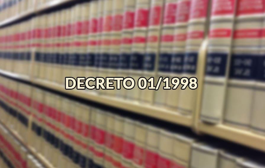 Decreto 01/1998