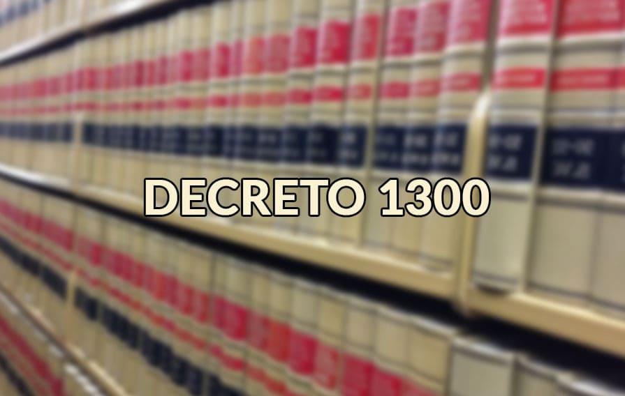 decreto 1300